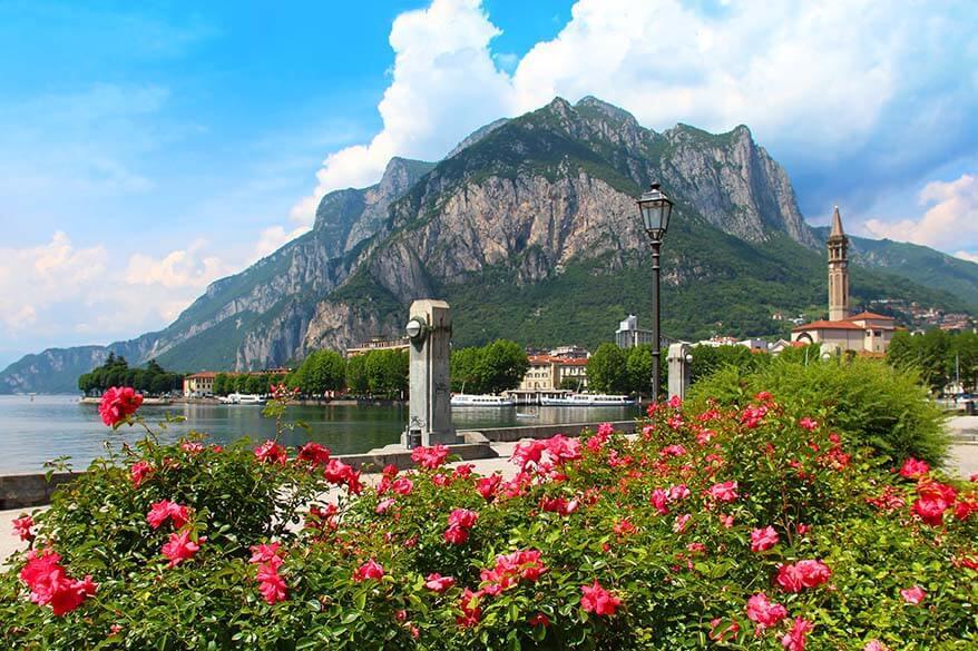 Lecco town in Lake Como Italy