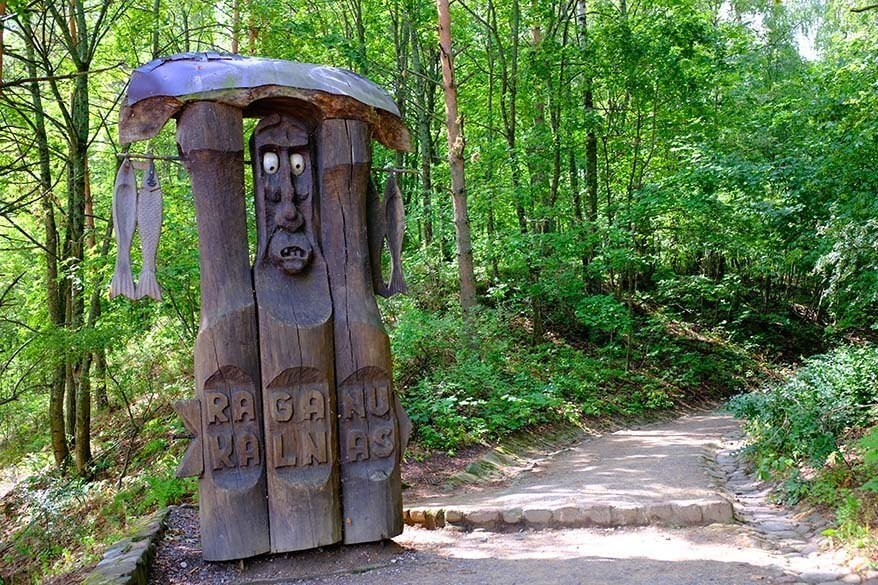 Lithuania points of interest - the Hill of Witches in Juodkrante