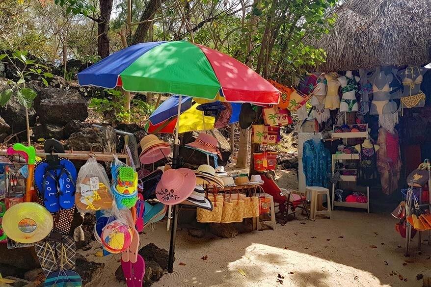 Market at Ile aux Cerfs in Mauritius