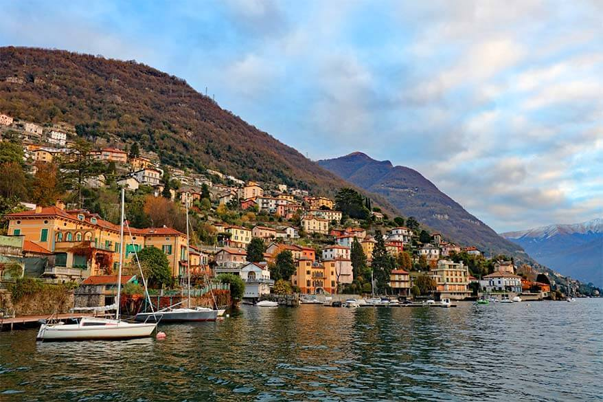 Moltrasio town in Lake Como, Italy