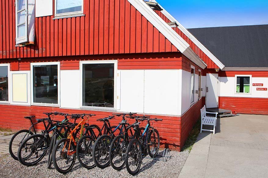 Mountain bikes for rent at Hotel Disko Island in Qeqertarsuaq