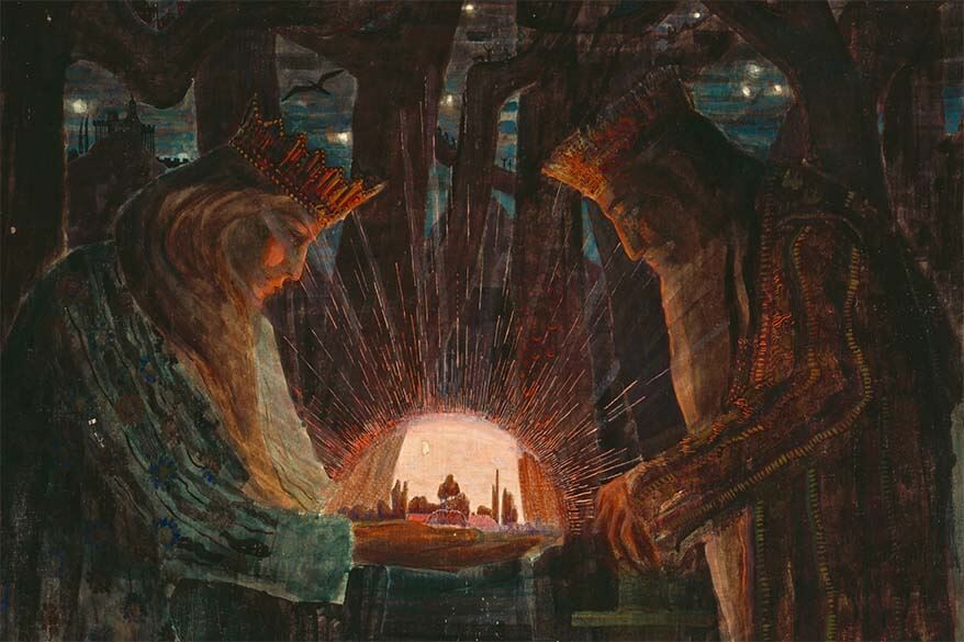 Painting Fairytale of Kings by Ciurlionis - one of the most famous artists of Lithuania