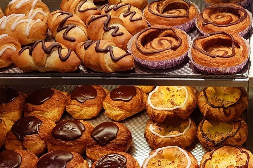 Pastry for sale at the supermarket in Qeqertarsuaq, Greenland