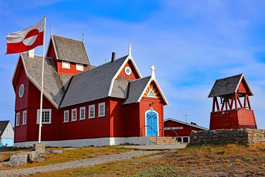 Qeqertarsuaq church - Disko Island, Greenland