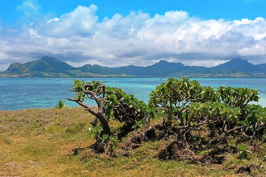 Scenery on Mauritius catamaran cruise and day tour to Ile aux Cerfs