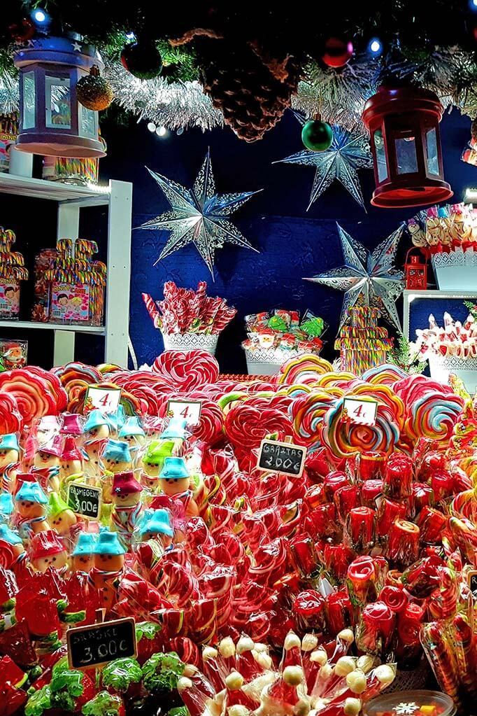 Sweets for sale at the Christmas market in Vilnius Lithuania