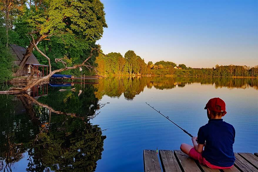 Things to do in Lithuania - fishing at one of the many lakes