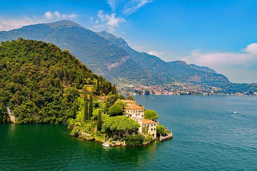 Villa Balbianello at Lake Como in Italy