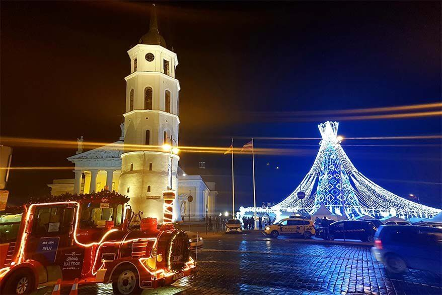 Vilnius Christmas market and Christmas train - winter celebrations in Lithuania
