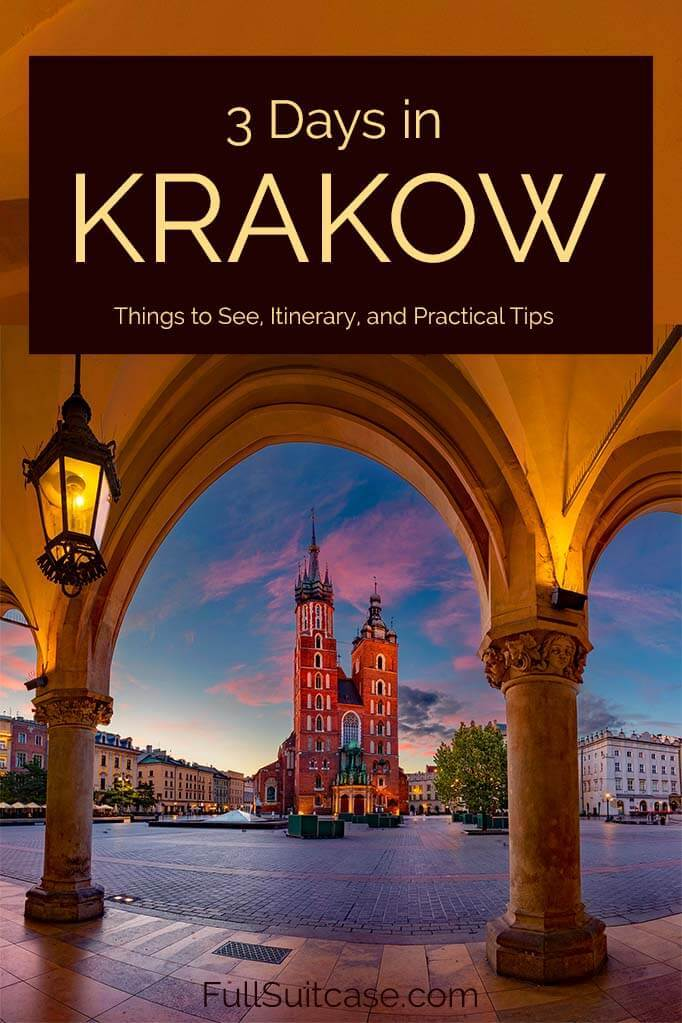 3 days in Krakow - best itinerary for the first trip