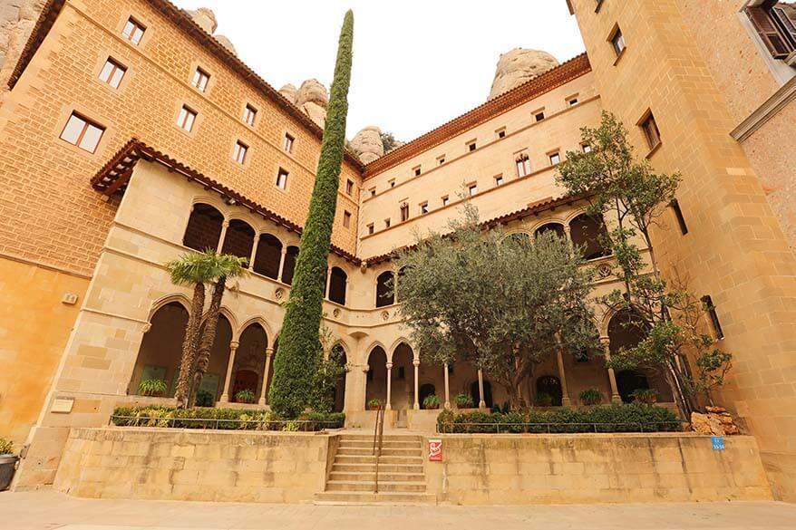 Abbey of Montserrat in Spain
