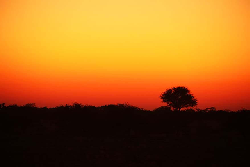 African sunset in Namibia