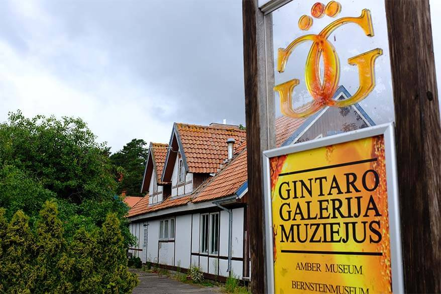 Amber Museum Gallery in Nida Lithuania