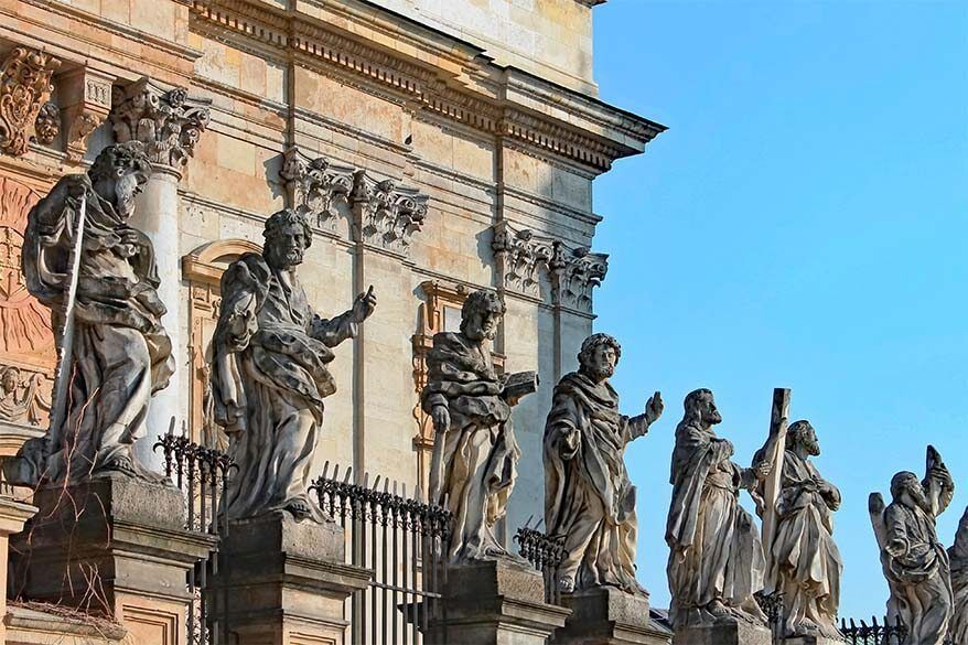 Apostle statues at the Church of SS Peter & Paul in Krakow