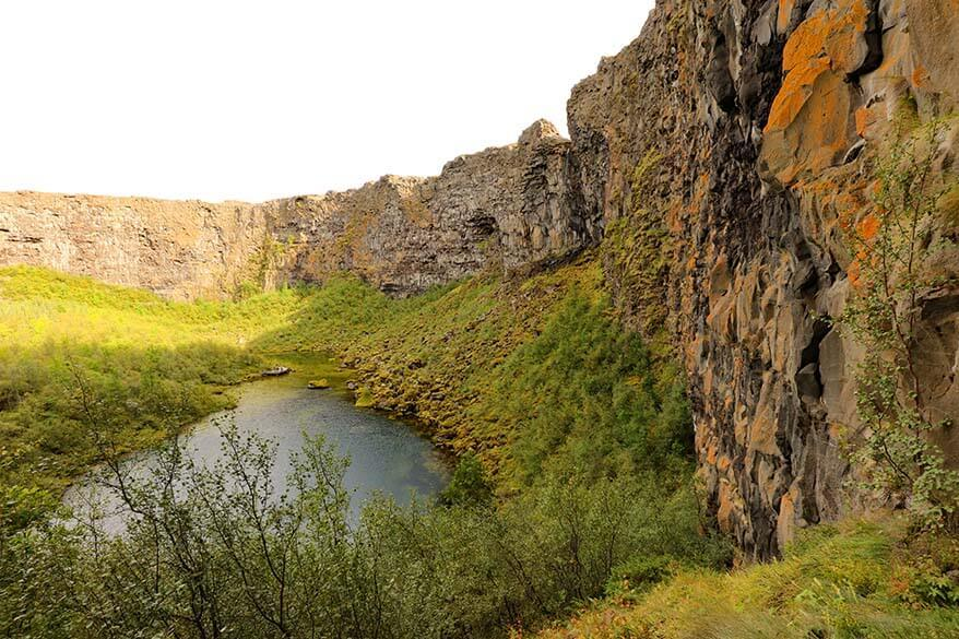 Asbyrgi canyon - one of the best places to visit in Iceland