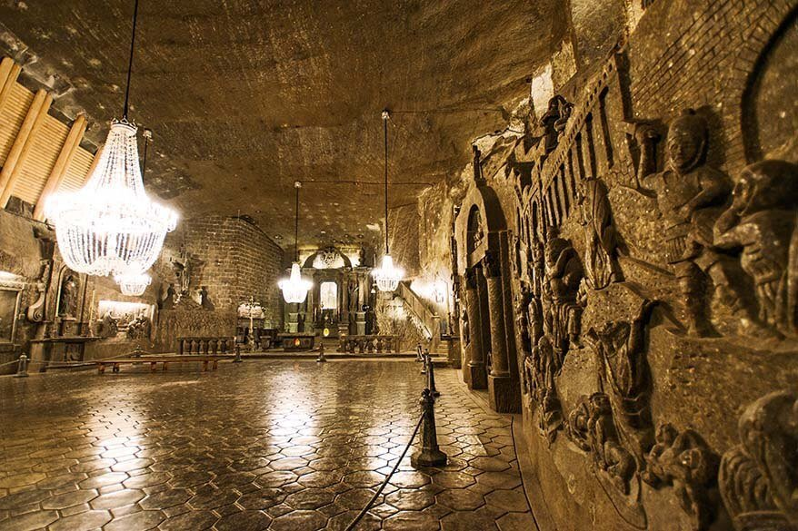 Chapel of St Kinga at Wieliczka Salt Mines near Krakow in Poland