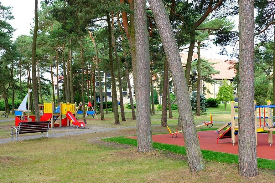 Children's playground in Nida Lithuania