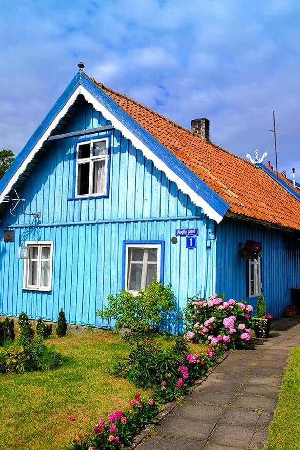Colorful old house in Nida Lithuania