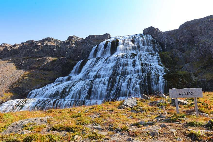 Dynjandi waterfall - one of the most beautiful places in Iceland