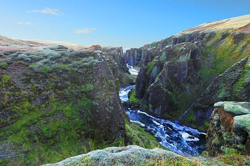Fjadrargljufur Canyon is one of the must see places in Iceland