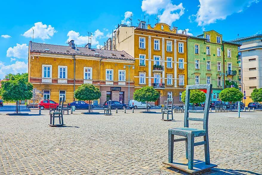 Ghetto Heroes Square in Krakow