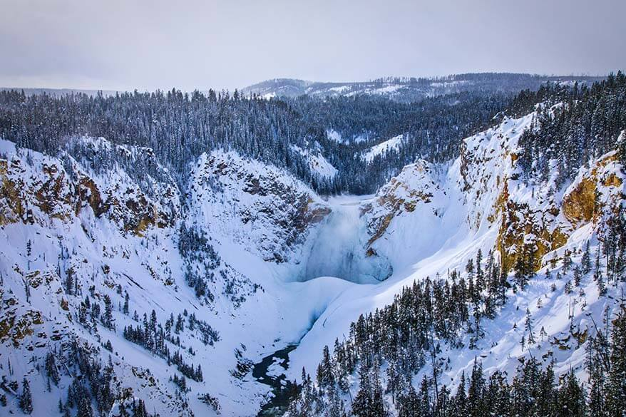 Grand Canyon of Yellowstone in winter