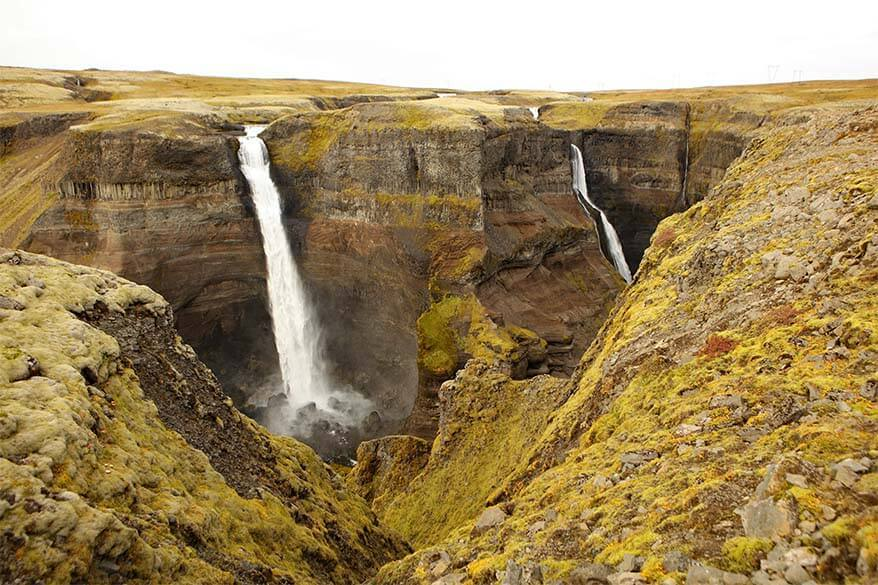 Haifoss - one of the highest waterfalls in Iceland
