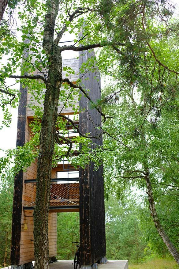 Highlight observation tower in Nida Lithuania