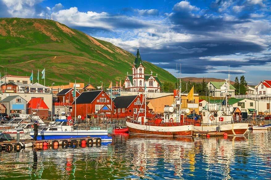 Husavik town in North Iceland