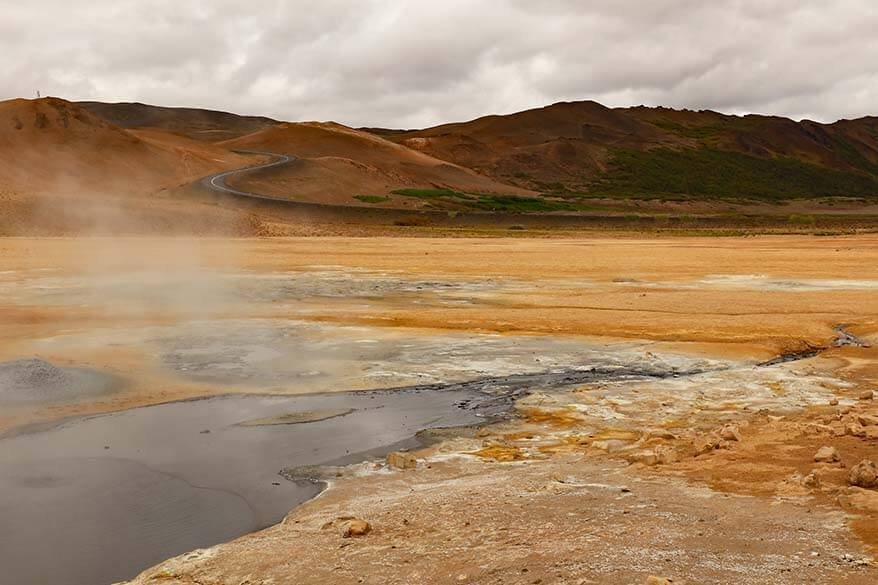 Namaskard geothermal area is one of the best places to visit in North Iceland