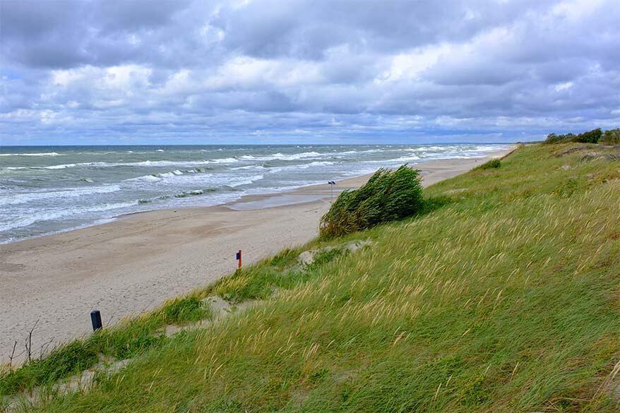 Nida beach in Lithuania