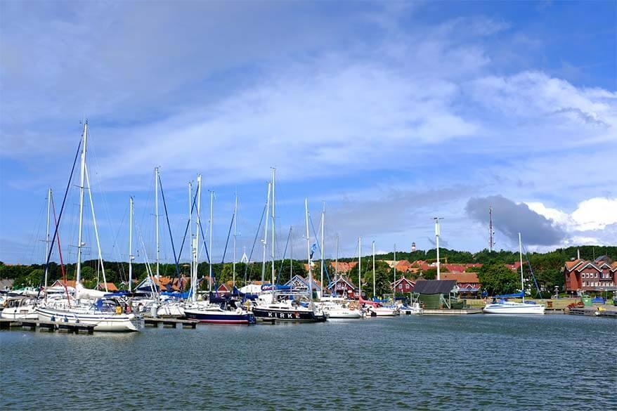 Nida harbor in Lithuania