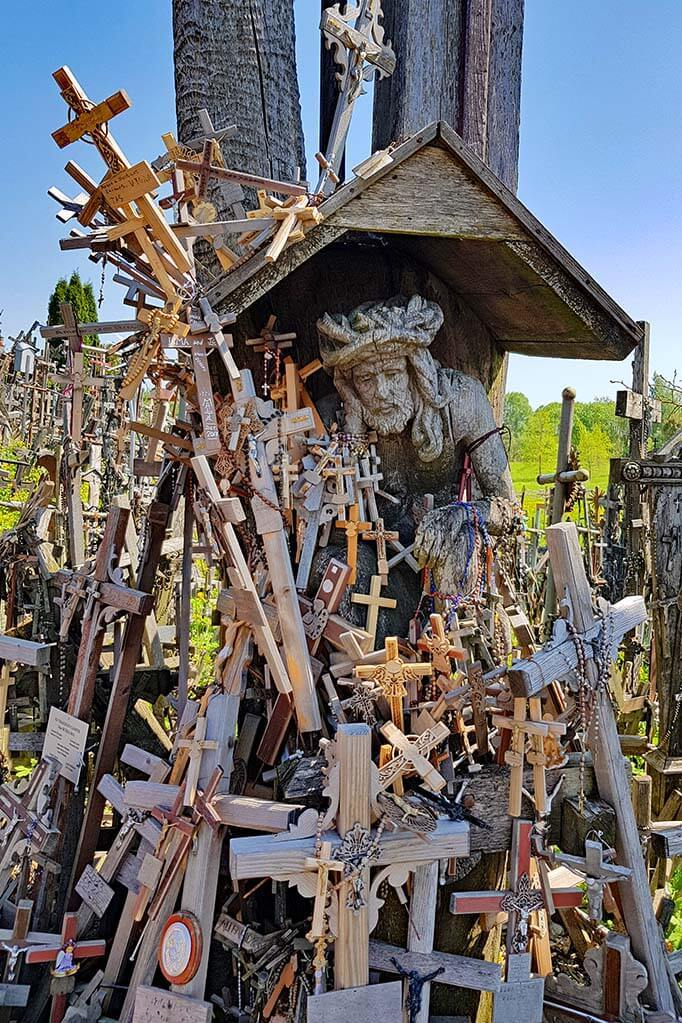 Pensive Christ - Rupintojelis - at the Hill of Crosses in Lithuania