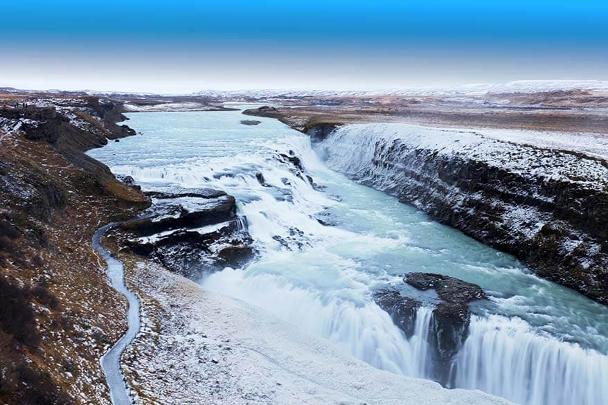 Places to visit in Iceland - Gullfoss waterfall