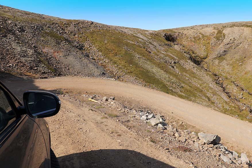 Road 614 - Raudasandsvegur to Raudasandur Beach on the Westfjords in Iceland