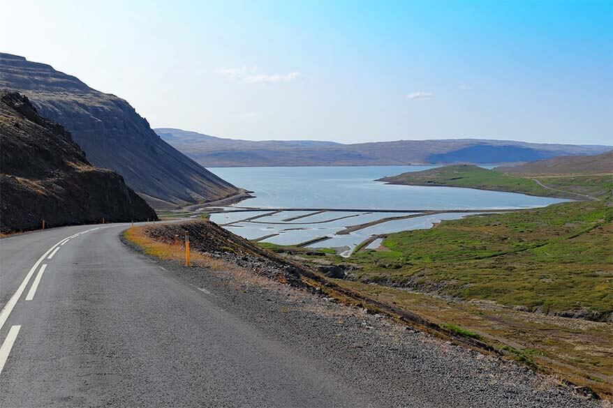Road 62 on the Westfjords in Iceland