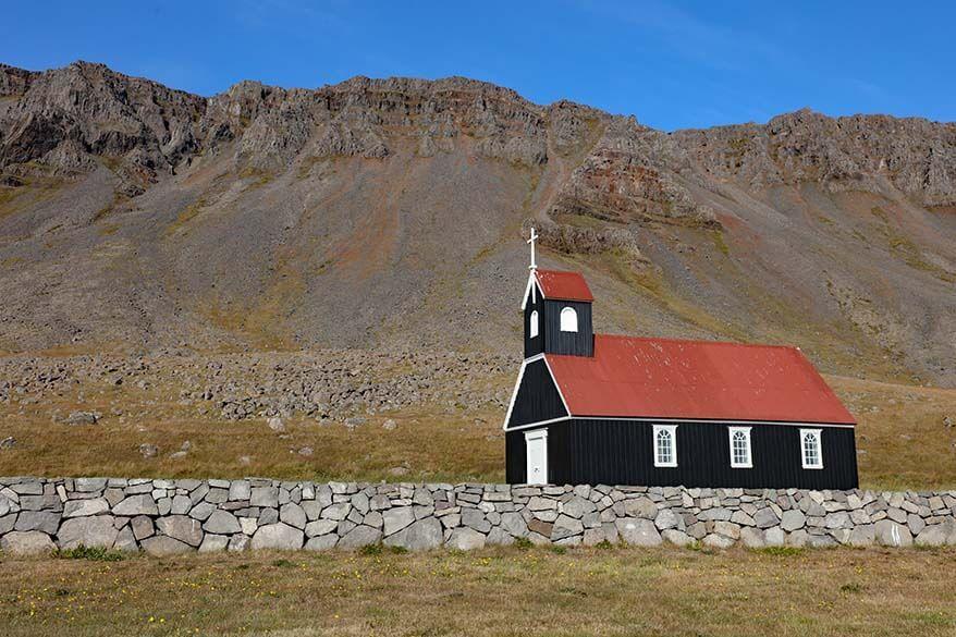 Saurbaejarkirkja in the Westfjords, Iceland