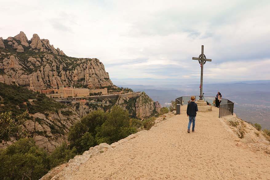 St Michael's Cross - best view of Montserrat Monastery
