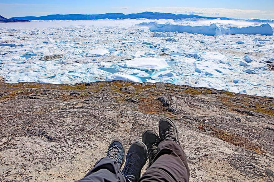 Sturdy waterproof hiking boots are the best shoes for Greenland