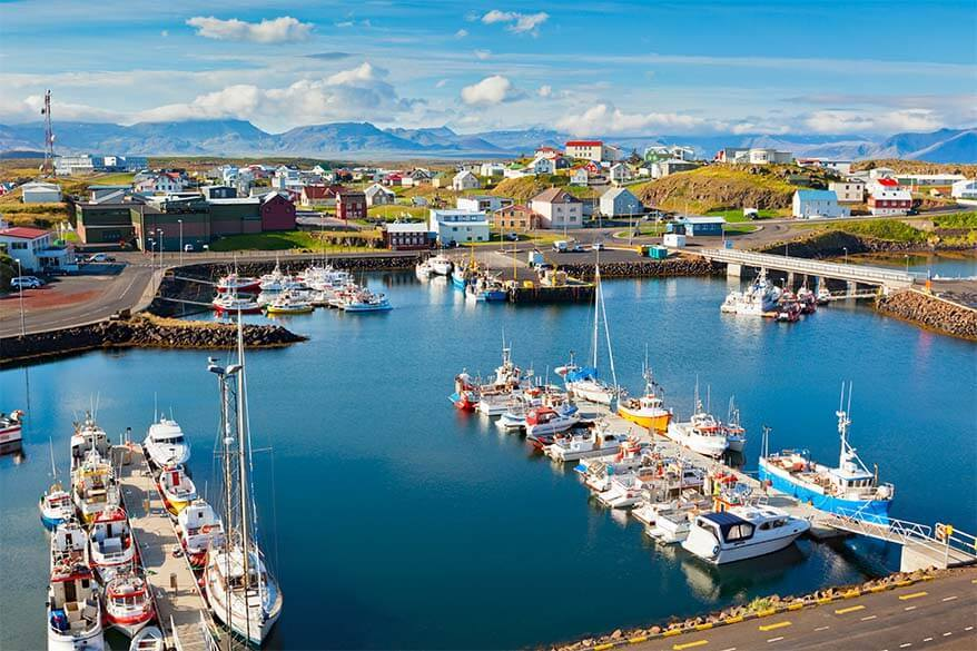 Stykkisholmur is one of the best towns to stay in Snaefellesnes Peninsula