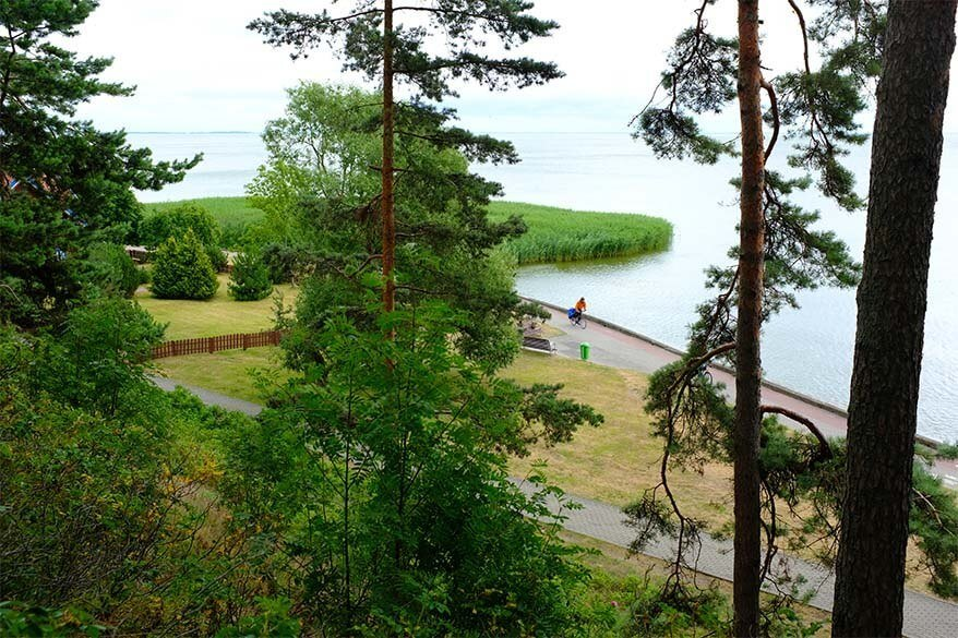 View on the Curonian Lagoon from Thomas Mann house in Nida