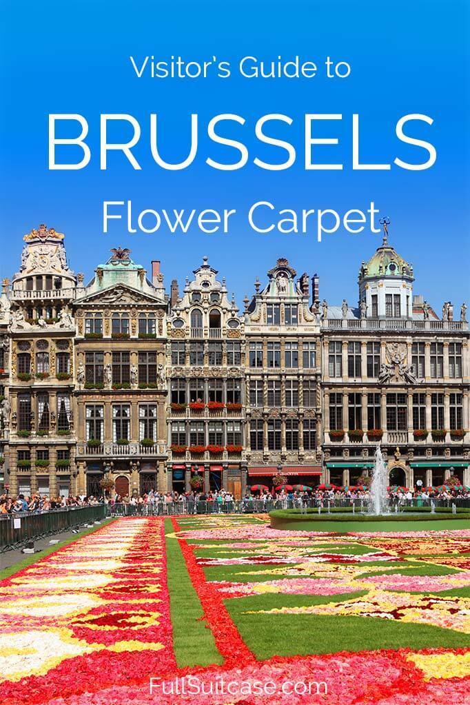 Visit Brussels Flower Carpet in Belgium