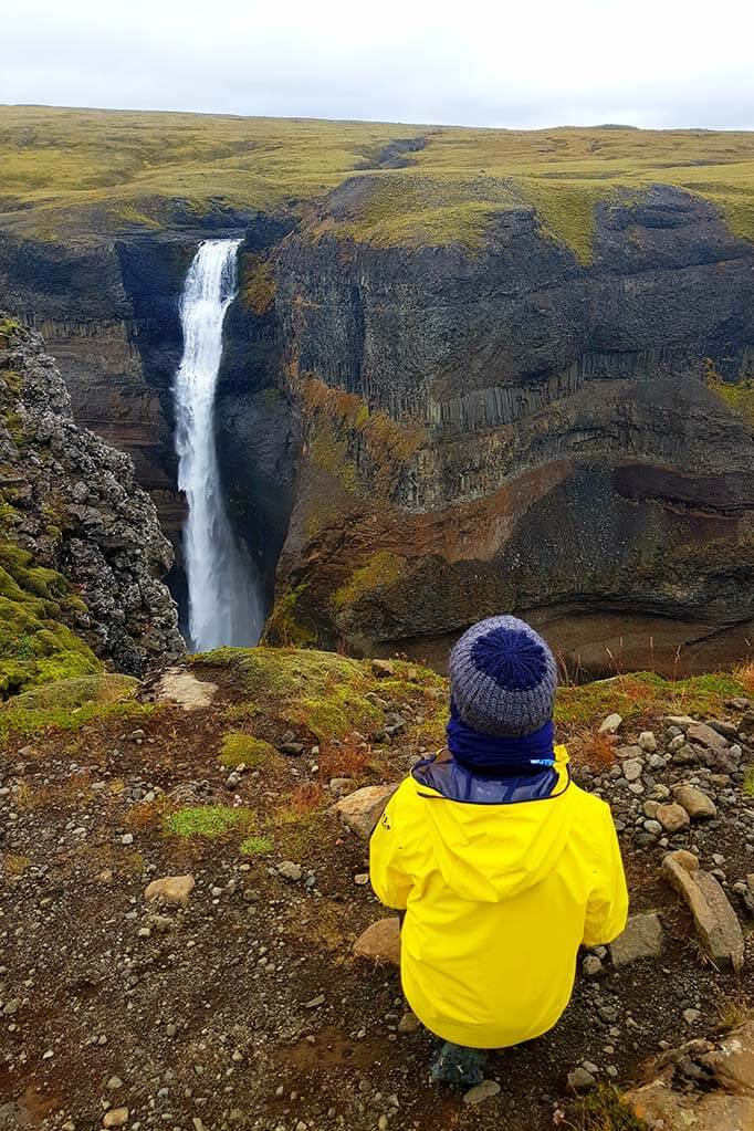 Visiting Haifoss waterfall