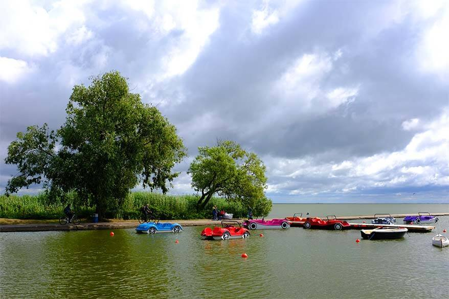 Water bikes for rent in Nida Lithuania