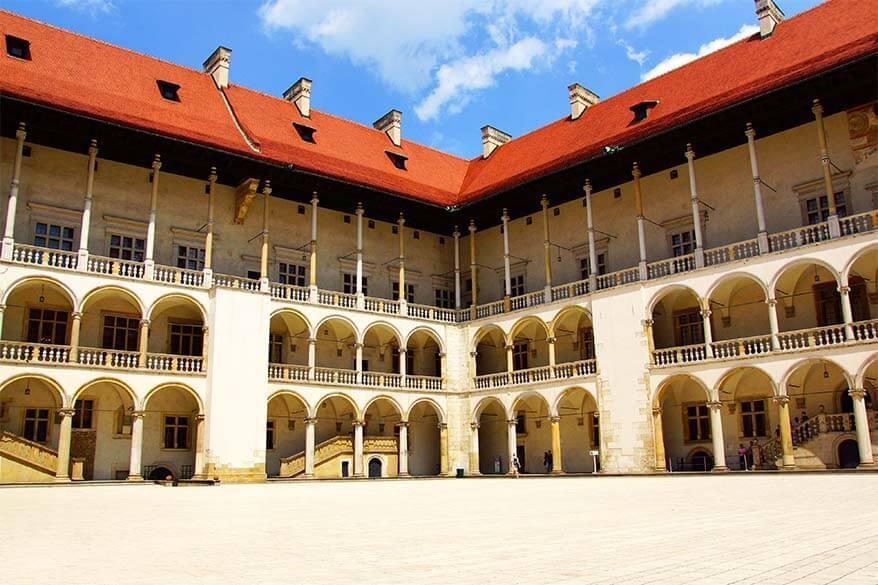 Wavel Castle Renaissance Arcades - Krakow Poland