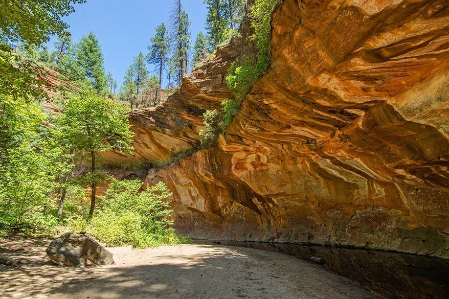West Fork Trail at Oak Creek Canyon in Sedona AZ
