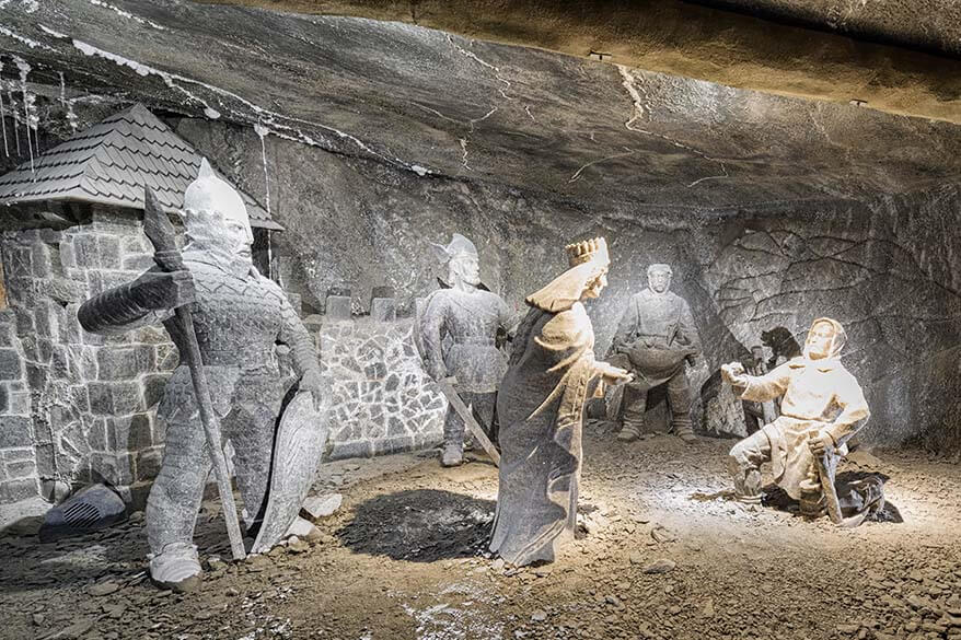 Wieliczka salt sculptures including a sculpture of Nicolaus Copernicus