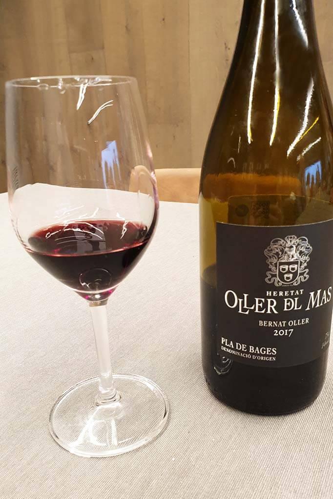 Wine tasting at Oller del Mas winery near Montserrat