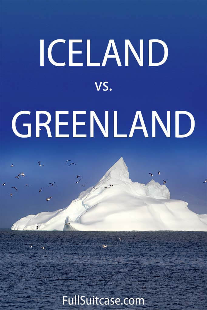 Comparison between Iceland and Greenland