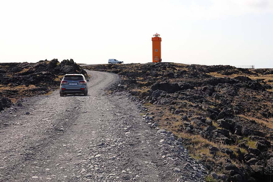 Driving on the F-roads in Snaefellsnes Peninsula in Iceland